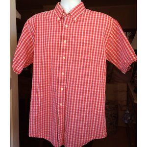 Brooks Brothers Men's Shirt L Red White Blue Cotto